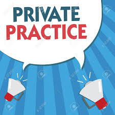 Word Writing Text Private Practice. Business Concept For Work ...